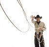 Rancher with lasso